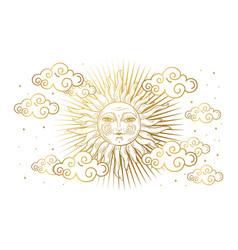 Magic banner for astrology tarot boho design vector