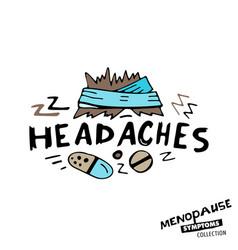 Menopause symptoms doodles vector