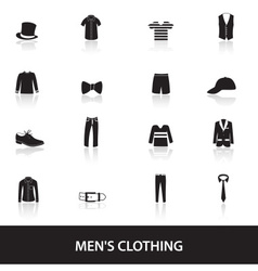 Mens black clothing eps10 vector