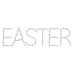 modern easter word background Eps 10 vector image