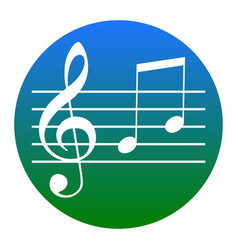 music violin clef sign g-clef and notes g h vector image