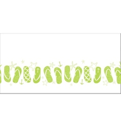 nautical flip flops green horizontal border vector image