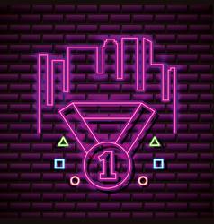 Neon video games vector