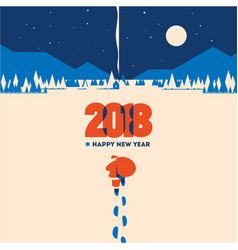 new year 2018 minimalistic vector image