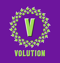 optical illusion volution logo in round moving vector image