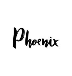 phoenix usa handwritten calligraphy hand drawn vector image