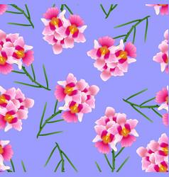 Pink vanda miss joaquim orchid on purple vector