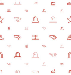 Police icons pattern seamless white background vector