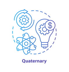 Quaternary blue concept icon knowledge sector vector