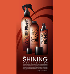 Realistic cosmetic bottles poster vector