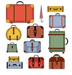 Retro travel bags vector image