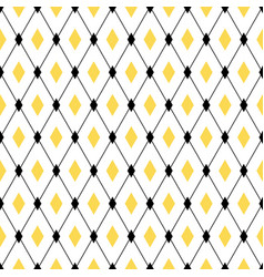 seamless geometric pattern with diamond rhombus vector image