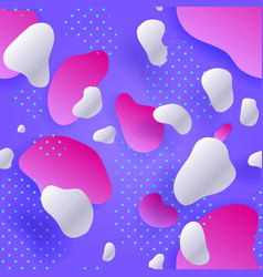 seamless pattern liquid shapes purple gradient vector image