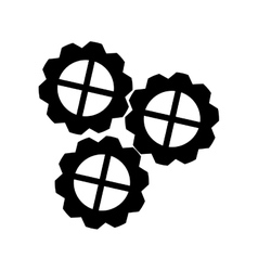 Silhouette gear wheel mechanism cog icon vector