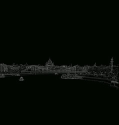 Sketch panorama moscow vector