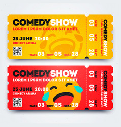 stand up comedy event show entry ticket template vector image