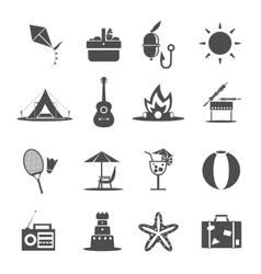 Summer Icon Black vector image