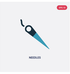Two color needles icon from sew concept isolated vector