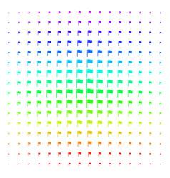waving flag shape halftone spectrum effect vector image