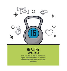 white background decorated of poster healthy vector image