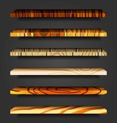 wooden shelves vector image
