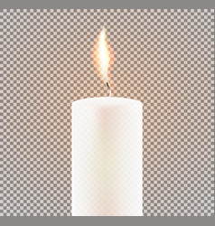 candle flame on transparent background vector image vector image