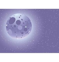 Cartoon starry sky vector image vector image