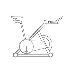 cycling bike fitness bicycle sport icon exercise vector image