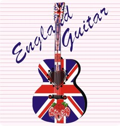 England acoustic guitar vector image vector image
