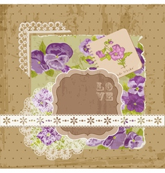 floral ornamental card vector image vector image