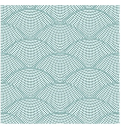 Seamless ocean wave dot pattern vector