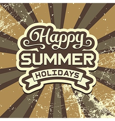 Summer Holidays Vintage Poster vector image vector image