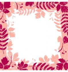 autumn leaves grange border vector image