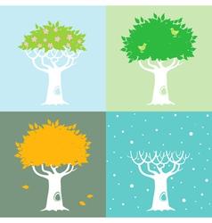 four season trees vector image vector image