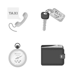 handset with the inscription of a taxi car keys vector image vector image