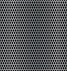metal hexagon background vector image vector image