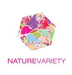 nature variety logo poster vector image vector image