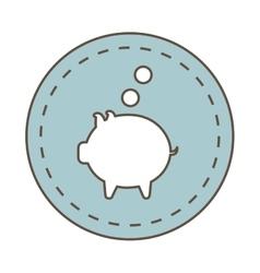 savings money symbol isolated icon vector image