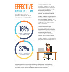 effective business and team banner vector image vector image