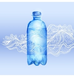 Transparent bottle of water vector image vector image