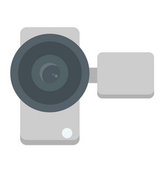 Video camera flat icon device and electronic vector