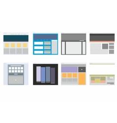 Website patterns vector