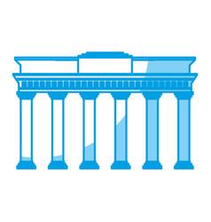 Brandenburg gate icon vector