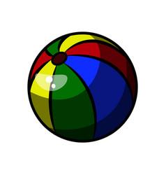 color sketch baby beach ball vector image vector image