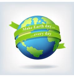Earth day symbol design vector image vector image
