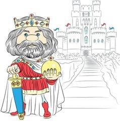 Fairytale cartoon king charles the first vector
