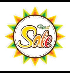 happy festival sale banner design design vector image