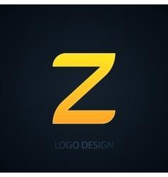 logo letter z vector image