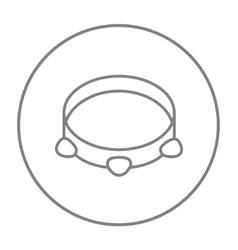 Tambourine line icon vector image vector image