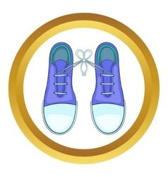 Tied shoes joke icon vector